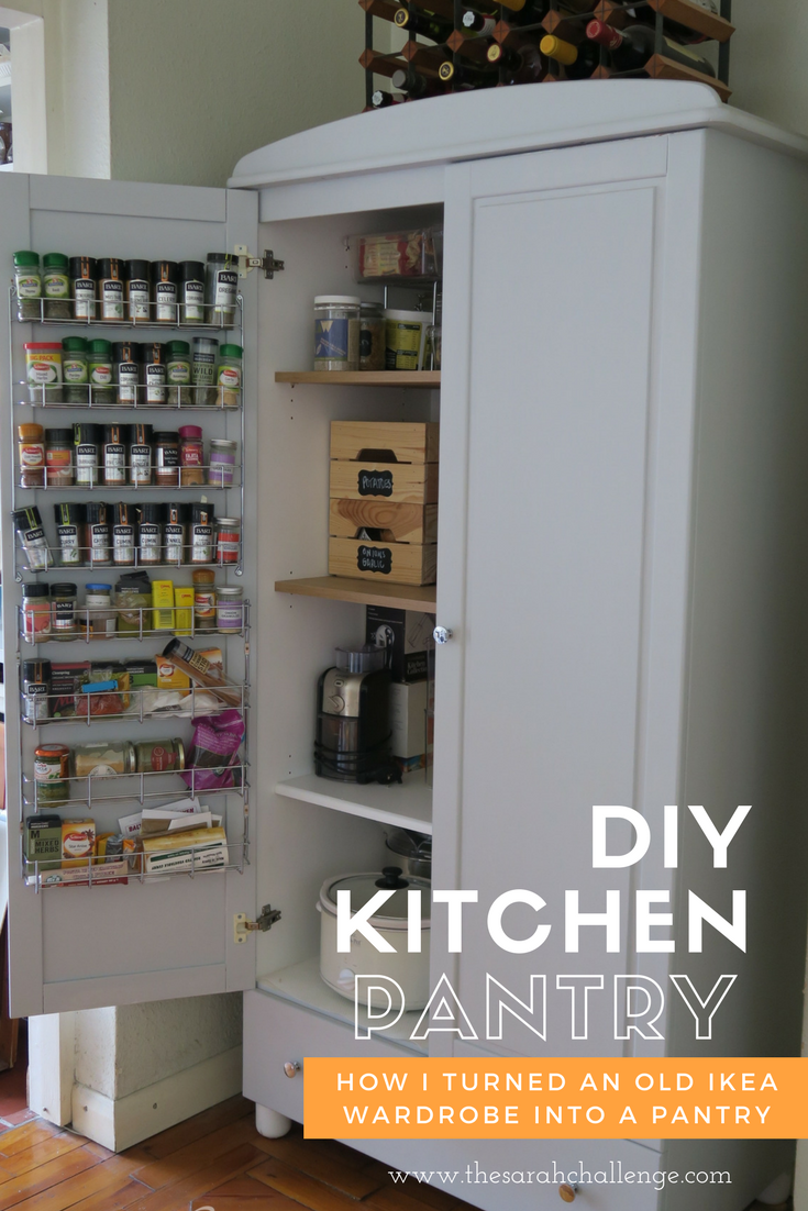 How I Turned An Old Ikea Wardrobe Into A Kitchen Pantry